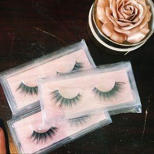 faux mink lashes bundle • 3 pairs